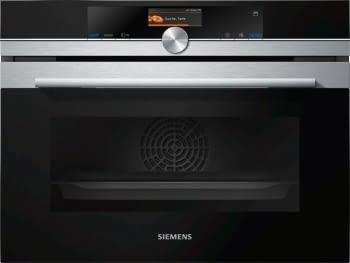 Horno Compacto Siemens CS636GBS2 Inoxidable de 45 cm con Vapor | Recetas programadas con cookControl Plus | Clase A+ | iQ700