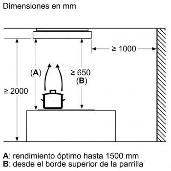Siemens LR16RBQ20 Extractor de Techo Blanco 105cm iQ500 | Promocionado - 4