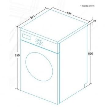 EDESA EWF-1610 WH Lavadora Blanca 10kg 1600 rpm | Detección Carga | Programa rápido 15 min | Motor Inverter A+++ -30% | Stock - 4