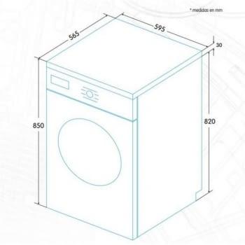 EDESA EWF-1280 WH Lavadora Blanca 8kg 1200 rpm A+++ |STOCK - 4