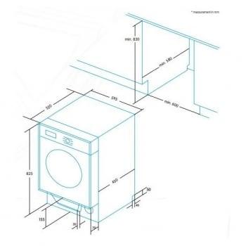 EDESA EWF-1480-I Lavadora Integrable Panelable 8kg 1400 rpm | Detección de carga | Programa rápido 15 min | A+++ - 5