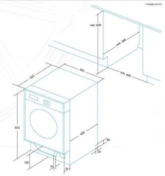 EDESA EWS-1480-I Lavasecadora Integrable 8Kg 1400rpm | Detección de Carga | Programa rápido 60 min | Clase A - 5