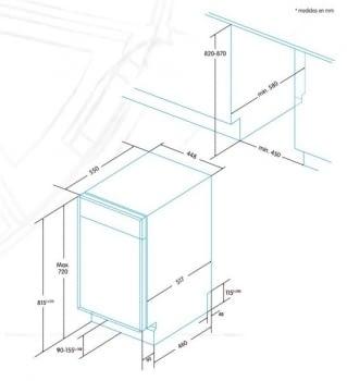 EDESA EDB-4591-I Lavavajillas Integrable 45cm | 9 Servicios | A+ - 5