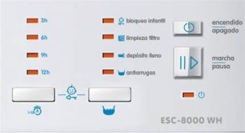 EDESA ESC-8000 WH Secadora Blanca 8kg | Condensación | Vapor | Detección Carga | Clase B - 4