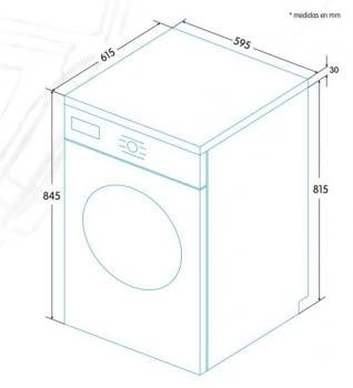 EDESA ESC-8000 WH Secadora Blanca 8kg | Condensación | Vapor | Detección Carga | Clase B - 5