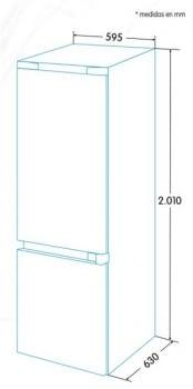 Combi EDESA EFC-2033 NF EX Inoxidable | Luz Led | NoFrost | 2000 x 595 x 630 mm | A+++ - 3