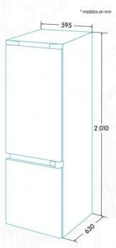 Combi EDESA EFC-2032 NF EX Inoxidable | Luz Led | No Frost | 2010 x 595 x 630 mm | A++ | Stock - 5