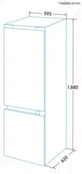Combi EDESA EFC-1821 NF WH Blanco | Luz Led | No Frost | 1880 x 595 x 630 mm | A+ - 4