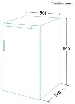 EDESA EFS-0812 WH Frigorífico + Congelador Vertical Blanco | 1 Puerta | 845 x 501 x 540 mm | A++ (Clase F 2021) | STOCK - 5