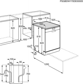Lavavajillas AEG FFB53910ZM Inox de 60 cm capacidad de 14 servicios AirDry A+++ - 10
