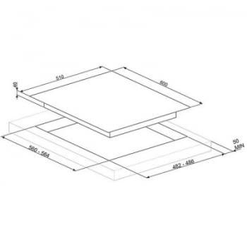 Placa Gas SMEG PV163B2 60cm 3 Fuegos Cristal Blanco | Envío Gratis - 2