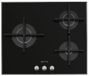 Placa Gas SMEG PV163N2 60cm 3 Fuegos Cristal Negro | Envío Gratis