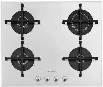 Placa Gas SMEG PV164B2 60cm 4 Fuegos Cristal Blanco | Envío Gratis