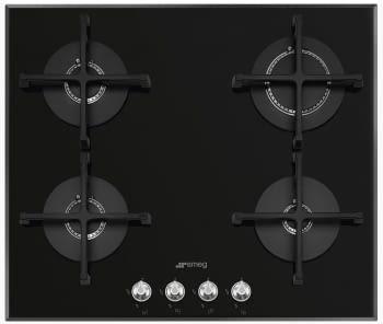 Placa Gas SMEG PV164N2 60cm 4 Fuegos Cristal Negro | Envío Gratis