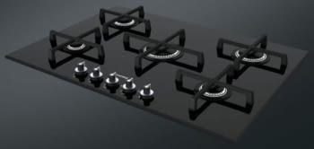Placa Gas SMEG PV175N2 72cm 5 Fuegos Cristal Negro | Envío Gratis