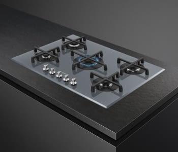 Placa Gas SMEG PV175S2 72cm 5 Fuegos Cristal Silver | Envío Gratis