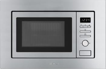 SMEG FMI017X Microondas con Grill | Acero Inoxidable Antihuellas | Envío Gratis