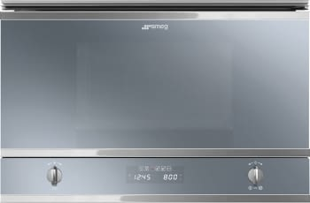 SMEG MP422S Microondas Integrable con Grill | Acero Inoxidable Satinado | Envío Gratis