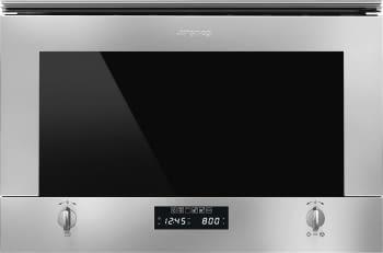 SMEG MP422X1 Microondas Integrable con Grill | Cristal Blanco | Envío Gratis STOCK