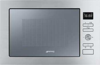 SMEG FMI425S Microondas Integrable con Grill | Inox Cristal Plateado | Envío Gratis