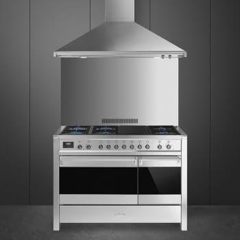 SMEG A3-81 Cocina a Gas | Diseño OPERA 120 x 60 | 2 Hornos | Acero Inox | Envío Gratis - 2