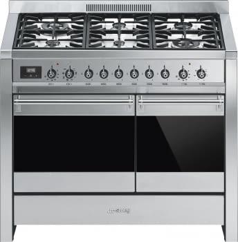 SMEG A2-81 Cocina a Gas | Diseño OPERA 100 x 60 | 2 Hornos | Acero Inox | Envío Gratis