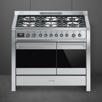 SMEG A2-81 Cocina a Gas | Diseño OPERA 100 x 60 | 2 Hornos | Acero Inox | Envío Gratis - 2