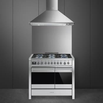 SMEG A2-81 Cocina a Gas | Diseño OPERA 100 x 60 | 2 Hornos | Acero Inox | Envío Gratis - 3