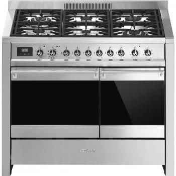 SMEG A2PY-81 Cocina a Gas | Diseño OPERA 100 x 60 | 2 Hornos | Acero Inox | Envío Gratis