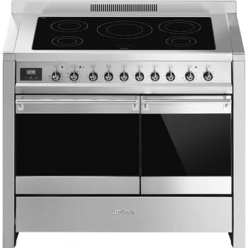 SMEG A2PYID-81 Cocina de Inducción 90cm x 60cm | 2 Hornos ( Principal Pirolítico) | Acero Inox | A+ | Envío Gratis