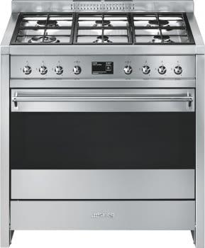 SMEG A1-9 Cocina a Gas 90cm x 60cm | 1 Horno Eléctrico | Acero Inoxidable | Envío Gratis