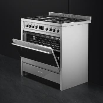 SMEG A1A-9 Cocina a Gas  90cm x 60cm | 1 Horno Eléctrico | Gris Antracita | A++ | Envío Gratis - 5