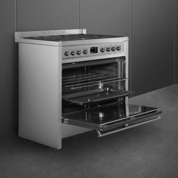 SMEG A1A-9 Cocina a Gas  90cm x 60cm | 1 Horno Eléctrico | Gris Antracita | A++ | Envío Gratis - 6