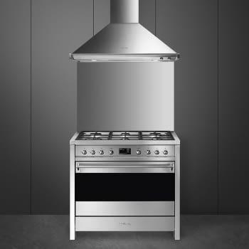 SMEG A1A-9 Cocina a Gas  90cm x 60cm | 1 Horno Eléctrico | Gris Antracita | A++ | Envío Gratis - 7