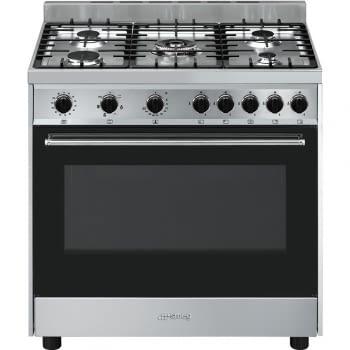 SMEG B901GMXI9 Cocina a Gas 90cm x 60cm | 1 Horno Eléctrico | Acero Inoxidable | Envío Gratis