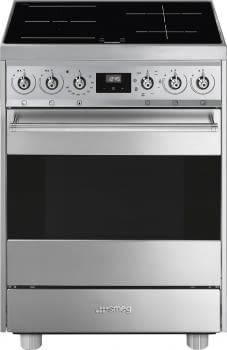 SMEG C6IMX9 Cocina de Inducción | Diseño Clásico 60 x 60 | 1 Horno Eléctrico | Acero Inoxidable | A
