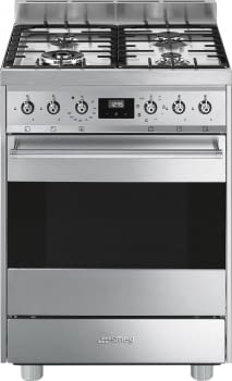 SMEG C6GMX9 Cocina de Gas | Diseño Clásico 60 x 60 | 1 Horno Eléctrico | Acero Inoxidable | A