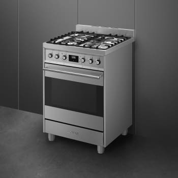 SMEG C6GMX9 Cocina de Gas | Diseño Clásico 60 x 60 | 1 Horno Eléctrico | Acero Inoxidable | A - 2