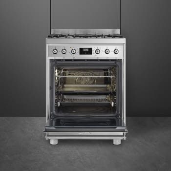 SMEG C6GMX9 Cocina de Gas | Diseño Clásico 60 x 60 | 1 Horno Eléctrico | Acero Inoxidable | A - 3