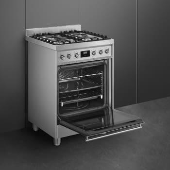 SMEG C6GMX9 Cocina de Gas | Diseño Clásico 60 x 60 | 1 Horno Eléctrico | Acero Inoxidable | A - 4