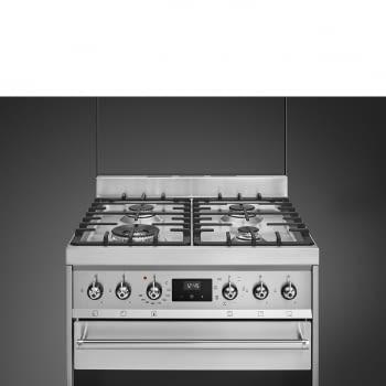SMEG C6GMX9 Cocina de Gas | Diseño Clásico 60 x 60 | 1 Horno Eléctrico | Acero Inoxidable | A - 5