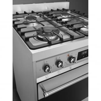 SMEG C6GMX9 Cocina de Gas | Diseño Clásico 60 x 60 | 1 Horno Eléctrico | Acero Inoxidable | A - 7
