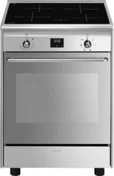 SMEG CX60ISVT9 Cocina de Inducción 60cm x 60cm | 1 Horno Eléctrico | Acero Inox | Envío Gratis