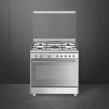 SMEG SX91SV9 Cocina de Gas 90cm x 60cm | 1 Horno Eléctrico | Acero Inox | Envío Gratis - 2