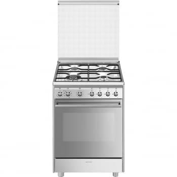 SMEG CX68MDS8 Cocina de Gas 60cm x 60cm | 1 Horno Eléctrico Vapor | Acero Inox | Envío Gratis