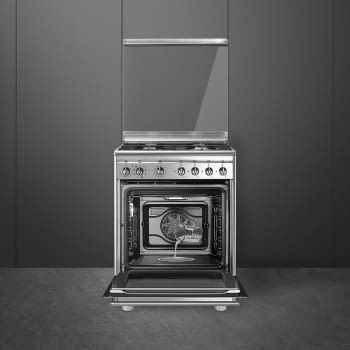 SMEG CX68MDS8 Cocina de Gas 60cm x 60cm | 1 Horno Eléctrico Vapor | Acero Inox | Envío Gratis - 2