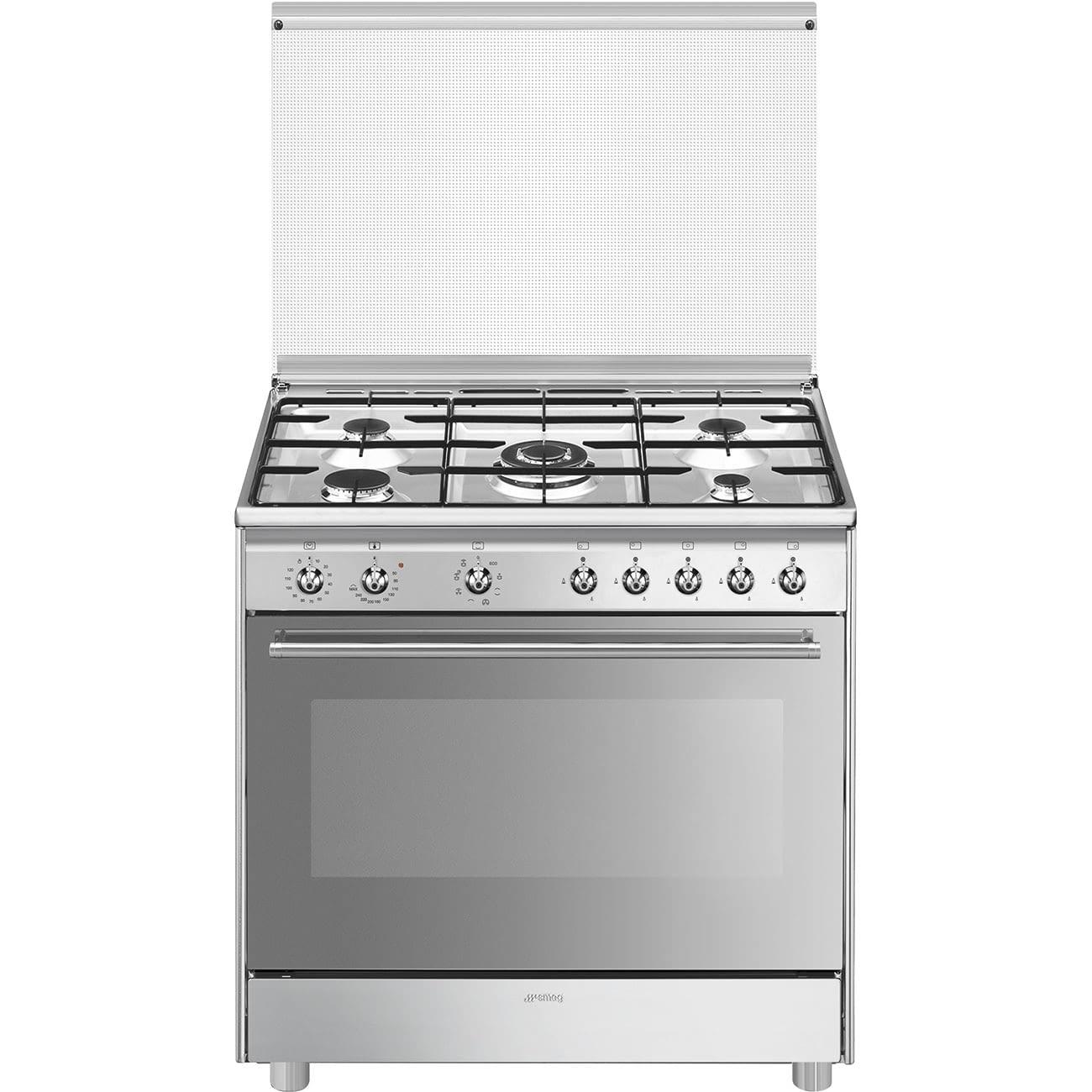 SMEG SX91MDS9 Cocina de Gas 90cm x 60cm   1 Horno Eléctrico Vapor   Acero Inox   Envío Gratis -