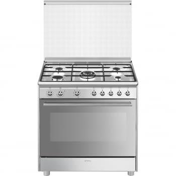 SMEG SX91MDS9 Cocina de Gas 90cm x 60cm | 1 Horno Eléctrico Vapor | Acero Inox | Envío Gratis