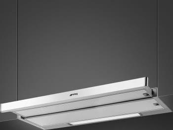 SMEG KSET9XE2 Campana Telescópica   90 cm   Silver / Acero   520 mh³   Envío Gratis