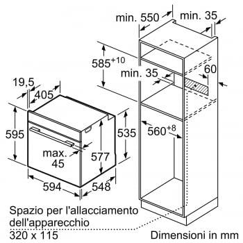 BOSCH HRG6769S6 Horno Multifunción 60cm| Pirolítico con Vapor | Wifi Home Connect | Acero Inoxidable Antihuellas | Clase A - 7